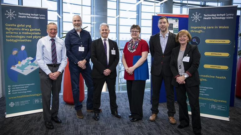 Dr Frank Atherton, Dr Rob Orford, Professor Peter Groves, Dr Susan Myles, Ifan Evans, Helen Howson.